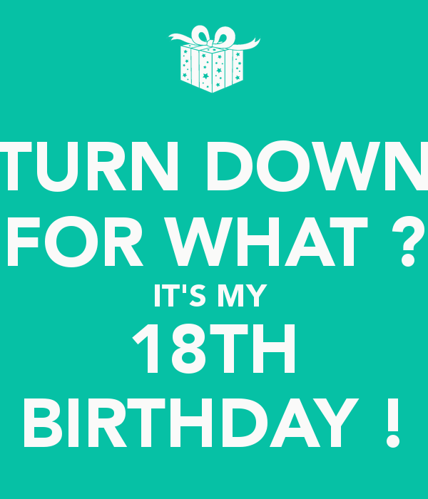 Number 18 Birthday Tumblr