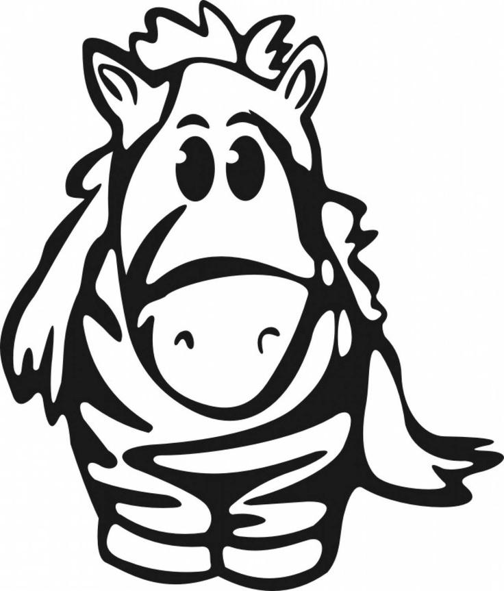 Baby Zebra Cartoon Face