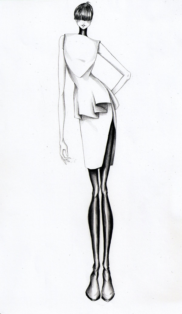 Fashion Sketch by zhuzhu on DeviantArt