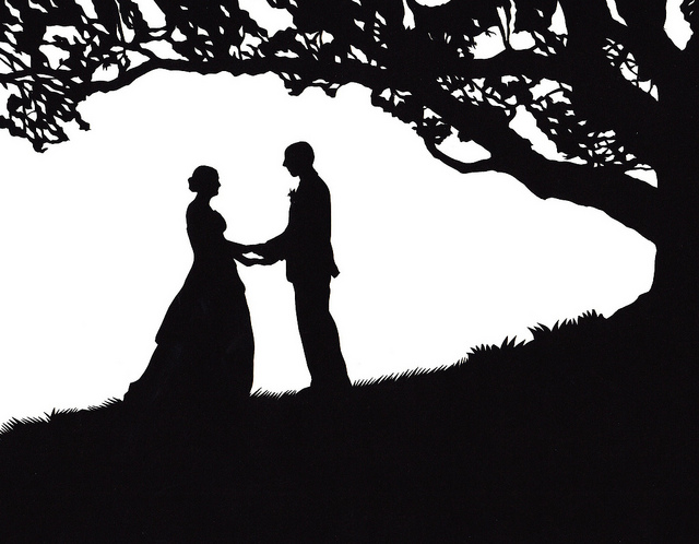 Wedding Silhouette - Cliparts.co