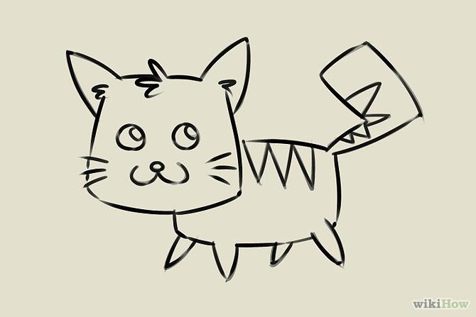 Cartoon kittens for How to draw a cartoon kitten