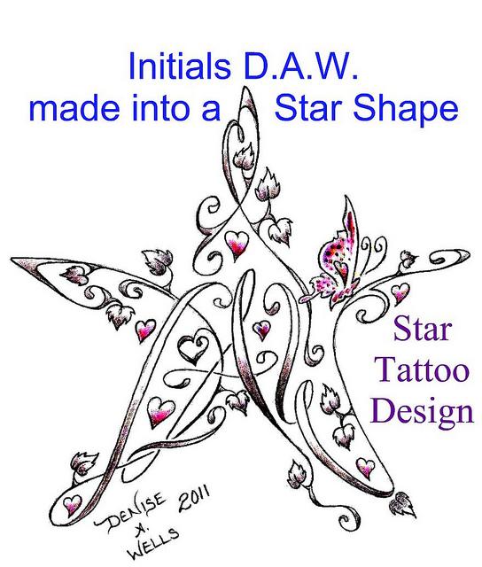 hearts and stars tattoos designs. Black Bedroom Furniture Sets. Home Design Ideas