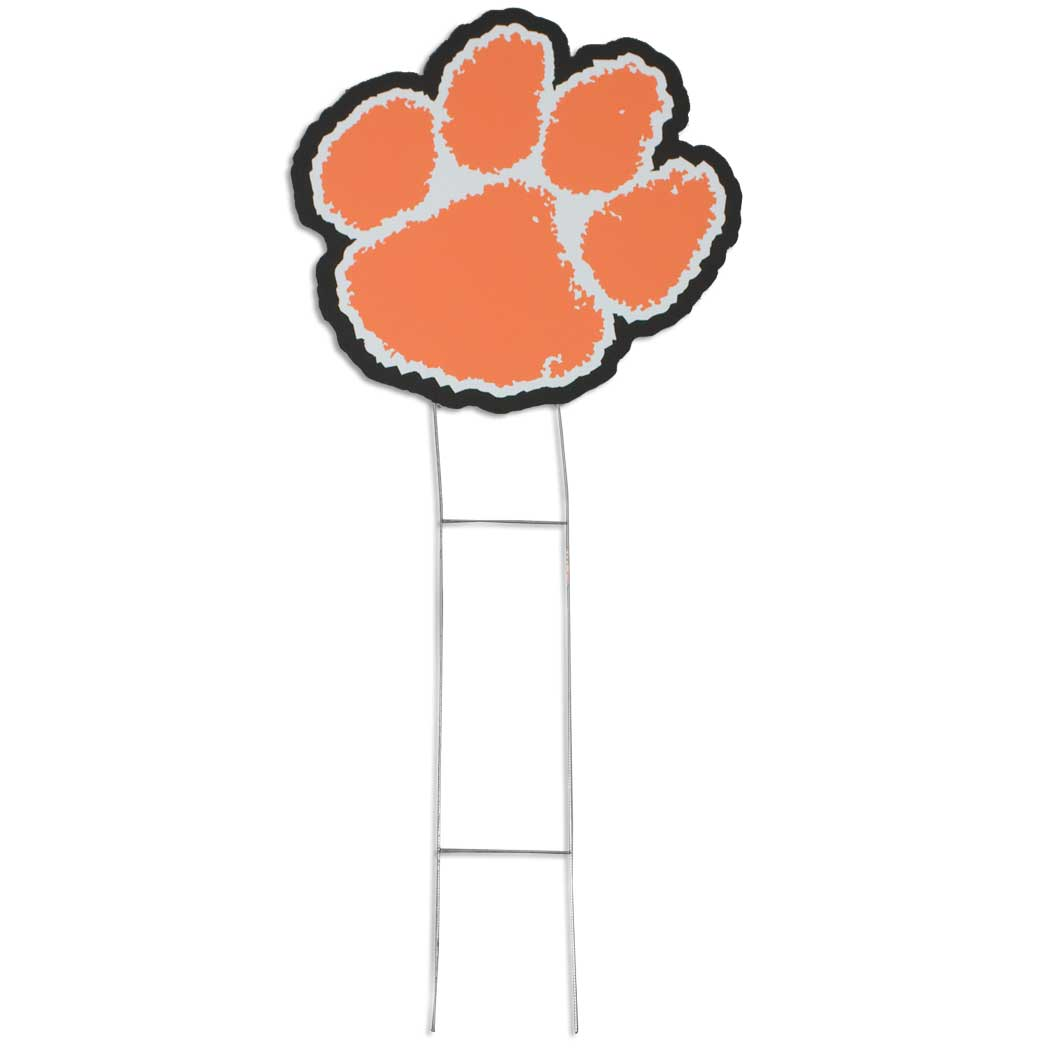 Clemson Tiger Paw Yard Sign - ClipArt Best - ClipArt Best