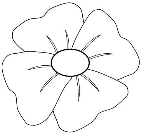 poppy clip art to colour, 14cm | Flickr - Photo Sharing!