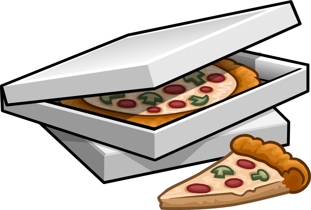 The Gallery For Gt Pizza In Box Clipart