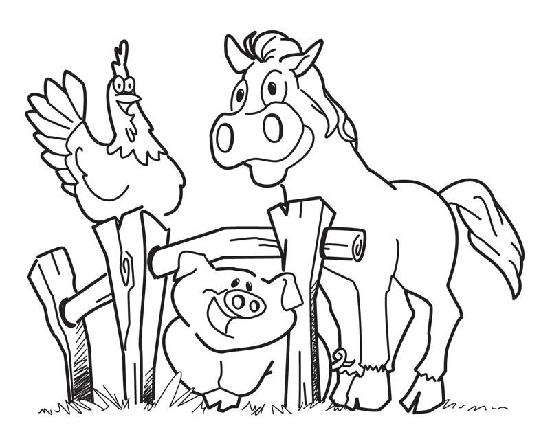 farm animal drawings clipartsco