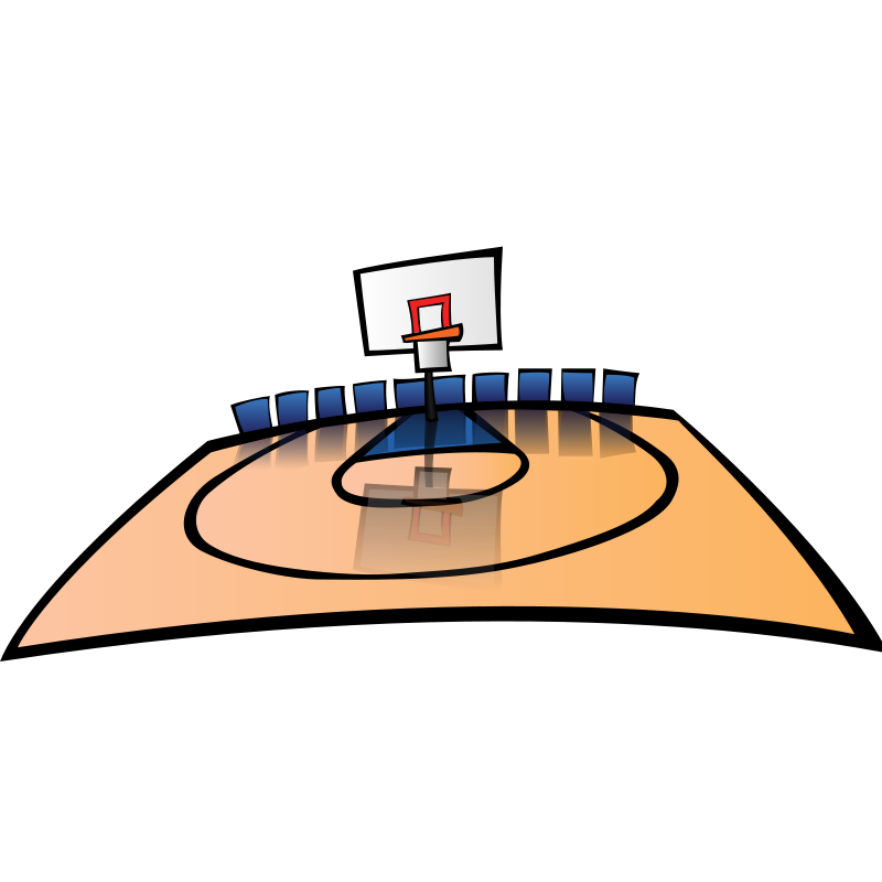 Free Basketball Court Clip Art