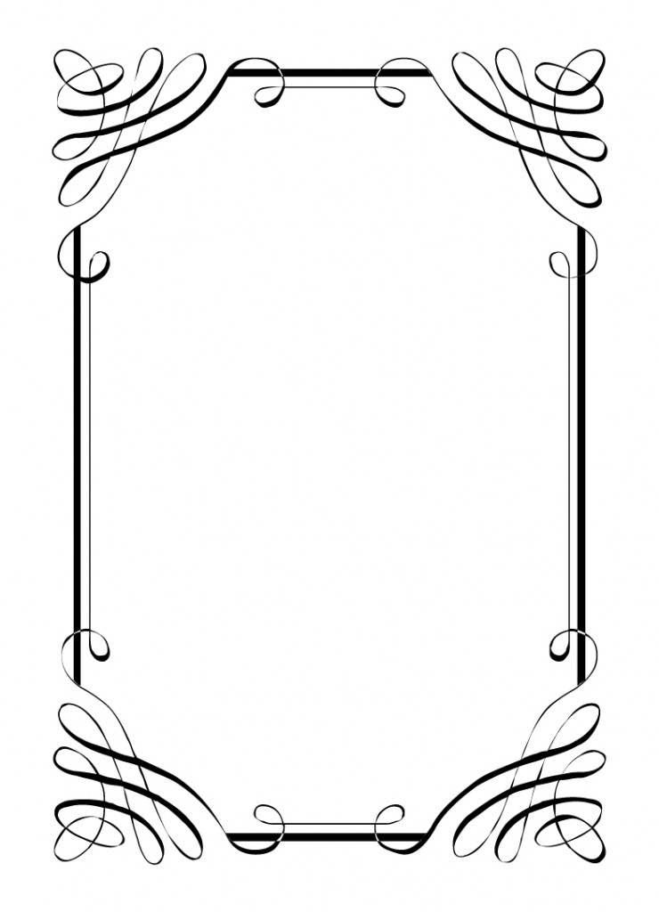 Free Vintage Clip Art Images Calligraphic Frames And Borders ...