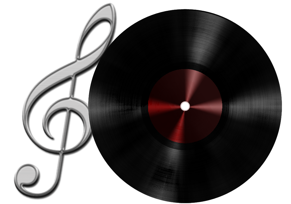 Vinyl Records Clipart Vinyl Record And Treble Clef