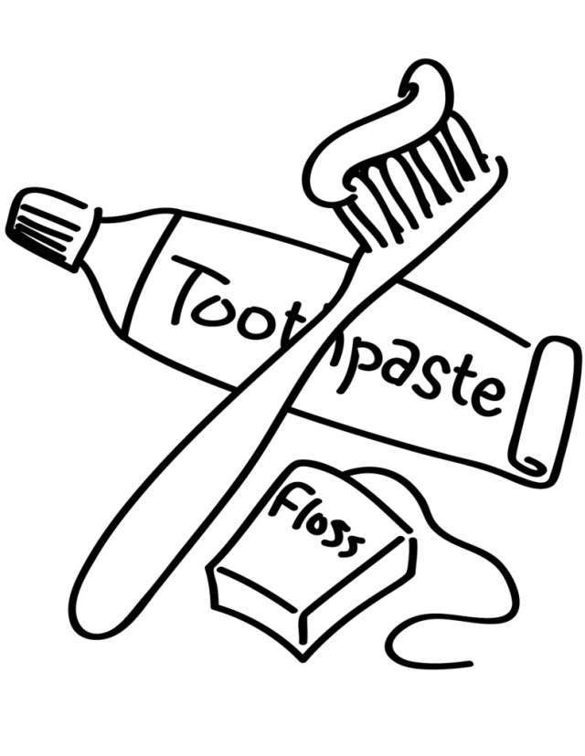 boy brushing teeth coloring pages - photo#4