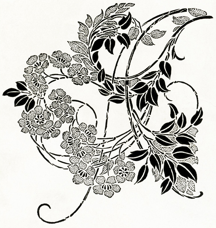 Free Digital Image ~ Black and White Ornamental Design 1899 | Old ...