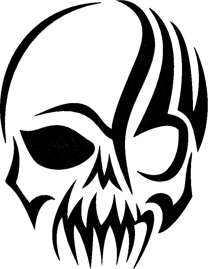 Tribal Skull Decal image - vector clip art online, royalty free ...