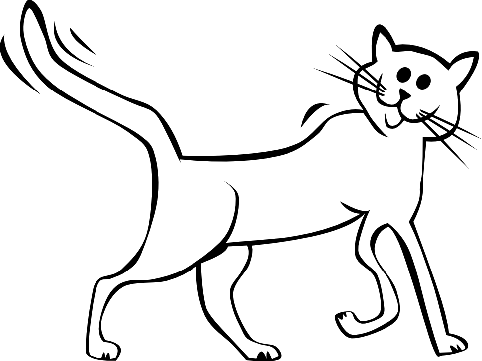 Cartoon Cat Black White Line Art Tatoo Tattoo ... - ClipArt Best ...