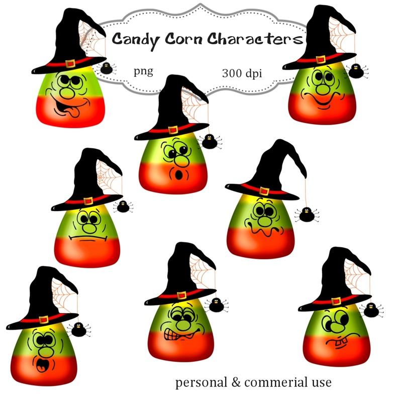 Halloween Candy Corn Clip Art Png Digital Images no 072 - graphic ...