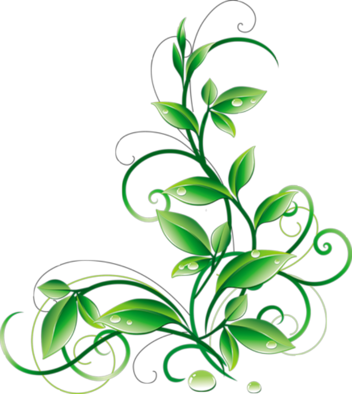 free green flower clipart - photo #35