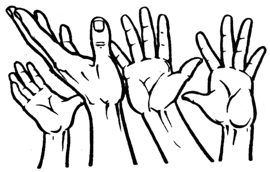 Hand Clip Art Outline Holding Hands | Clipart Panda - Free Clipart ...