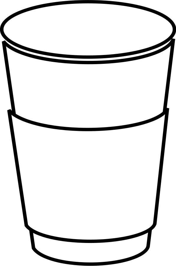 Coffee Cup Clip Art Black White Coffee Cup Clip Art Black And