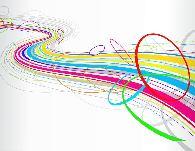 Vector Drawing Lines Java : Free abstract colorful wave line background vector