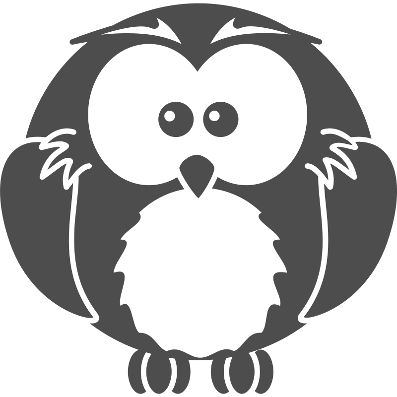 Clipart - Cartoon owl