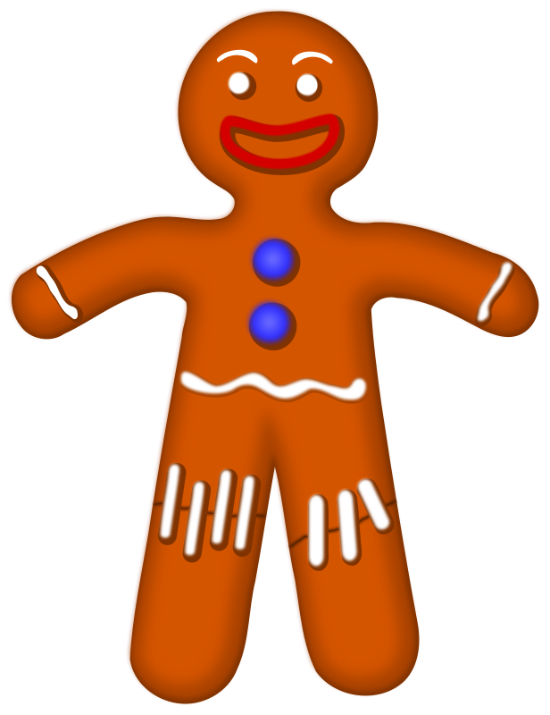 Gingerbread Man Border - Cliparts.co
