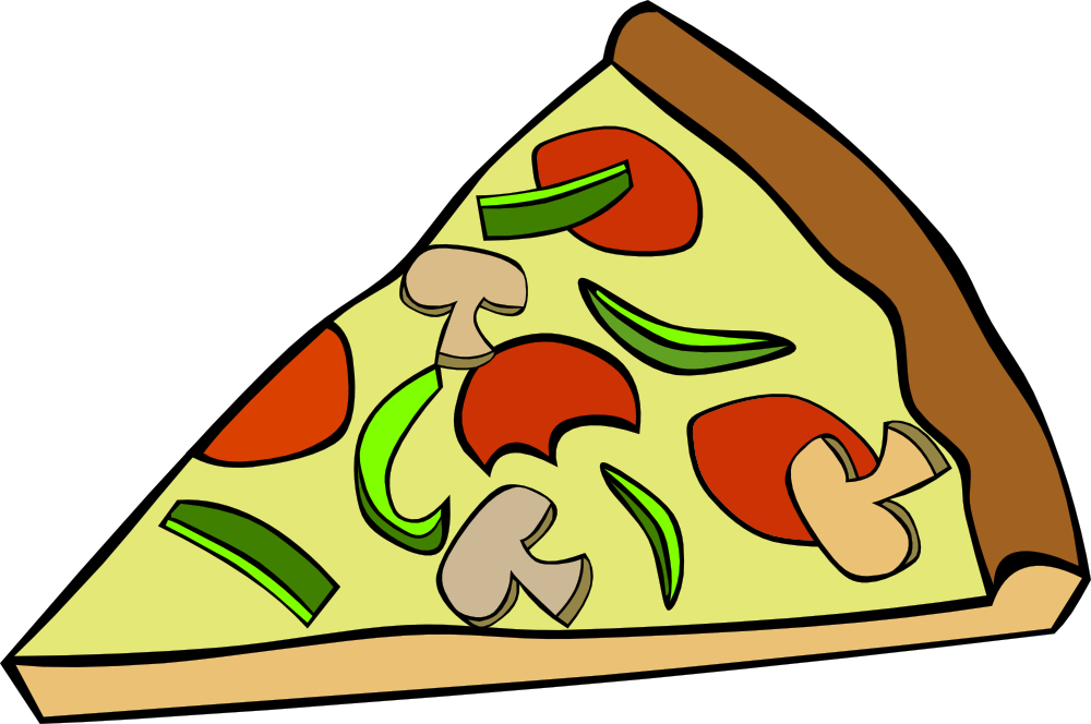 OnlineLabels Clip Art - Fast Food, Snack, Pizza, Pepperoni Mushroom