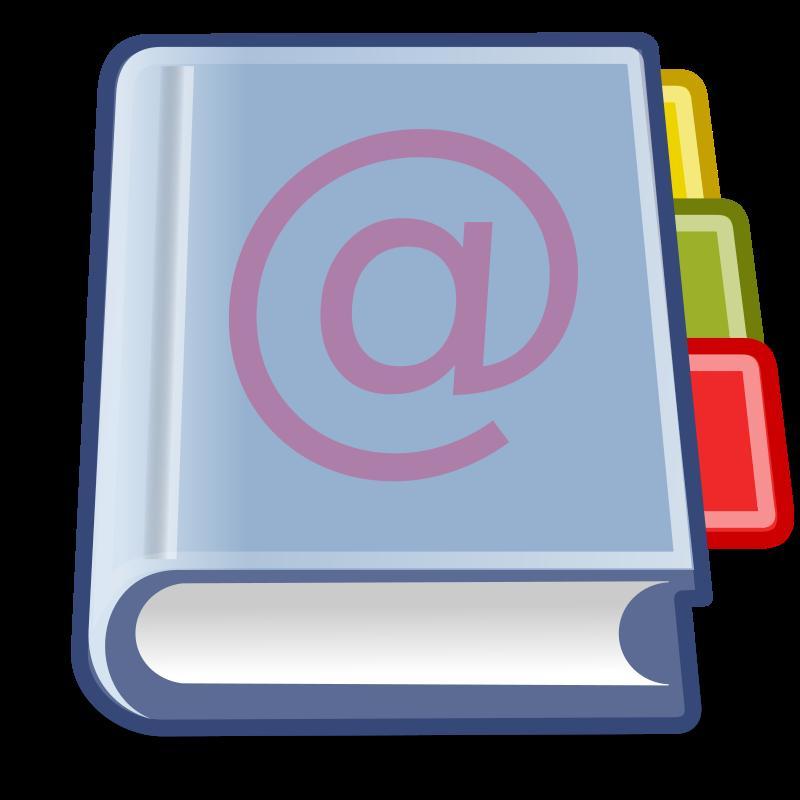 Office Address Book clip art - vector clip art online, royalty ...