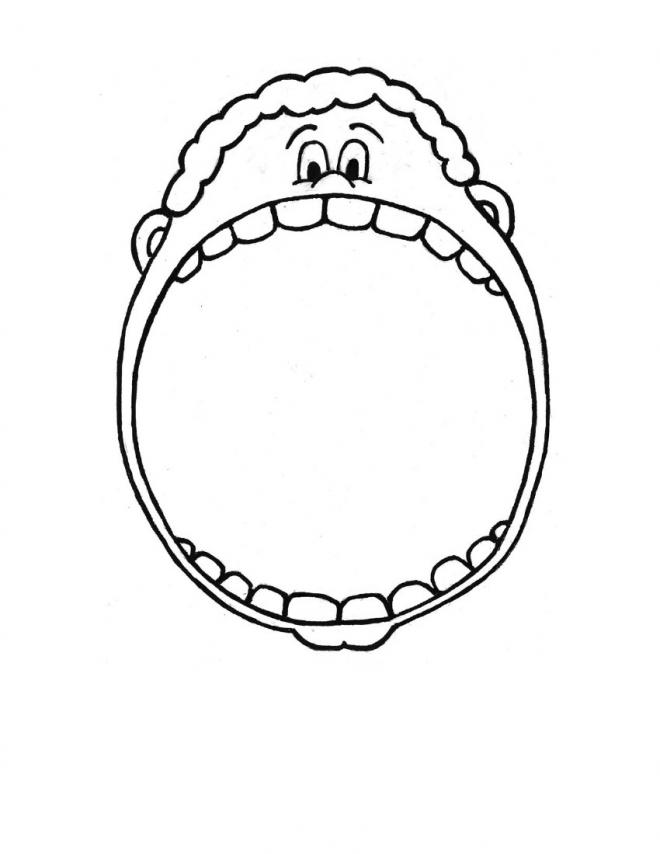 boy brushing teeth coloring pages - photo#33