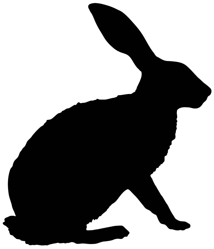 clipart image bunny silhouette - photo #29
