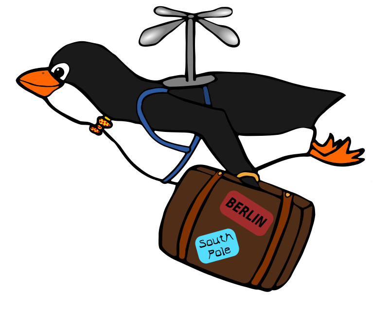 Penguin Sliding Clipart