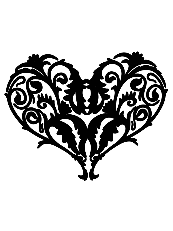 Filigree Heart Clip Art - Cliparts.co