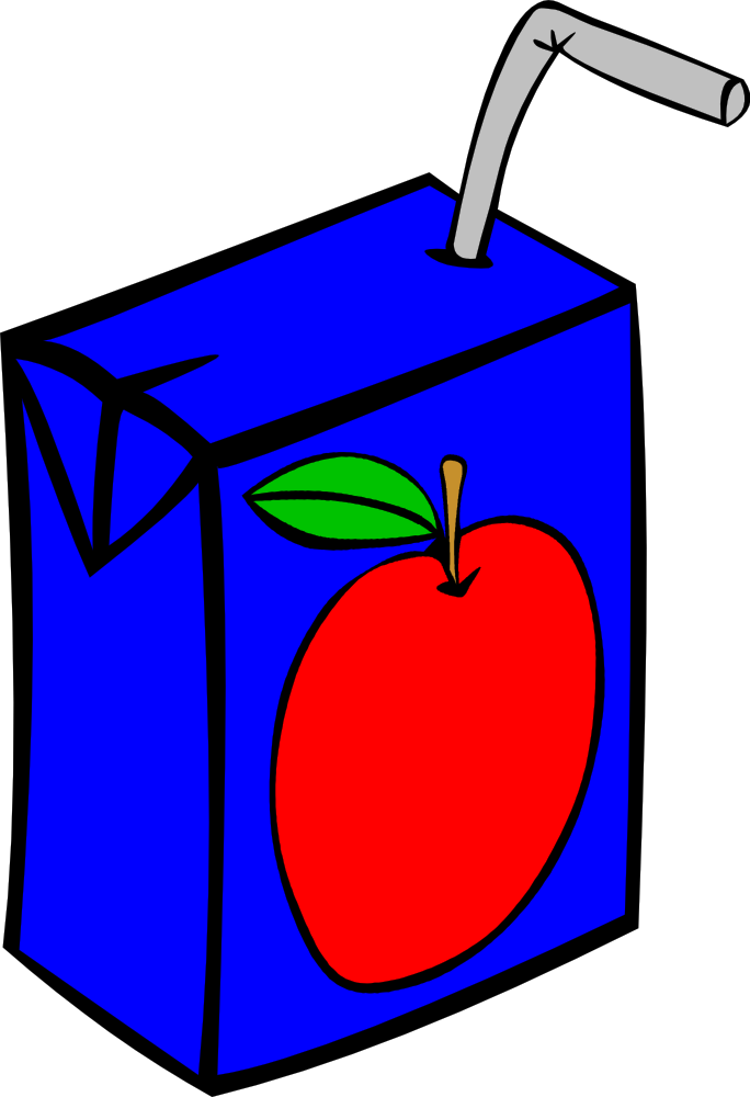 OnlineLabels Clip Art - Fast Food, Drinks, Apple Juice Box