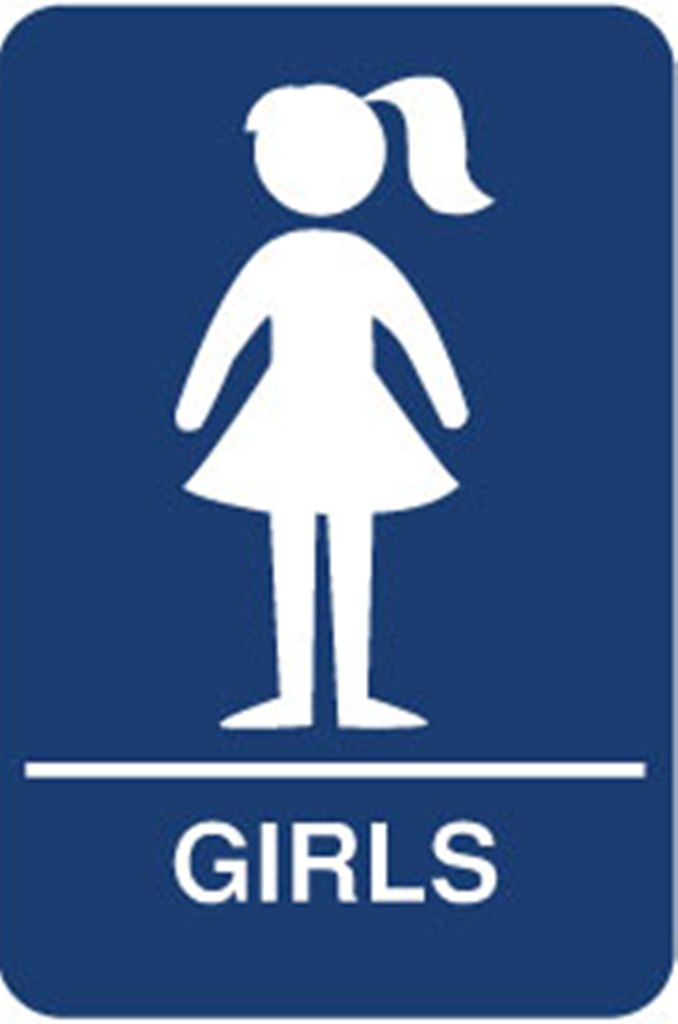 Ladies restroom sign clipartsco for Girls bathroom symbol