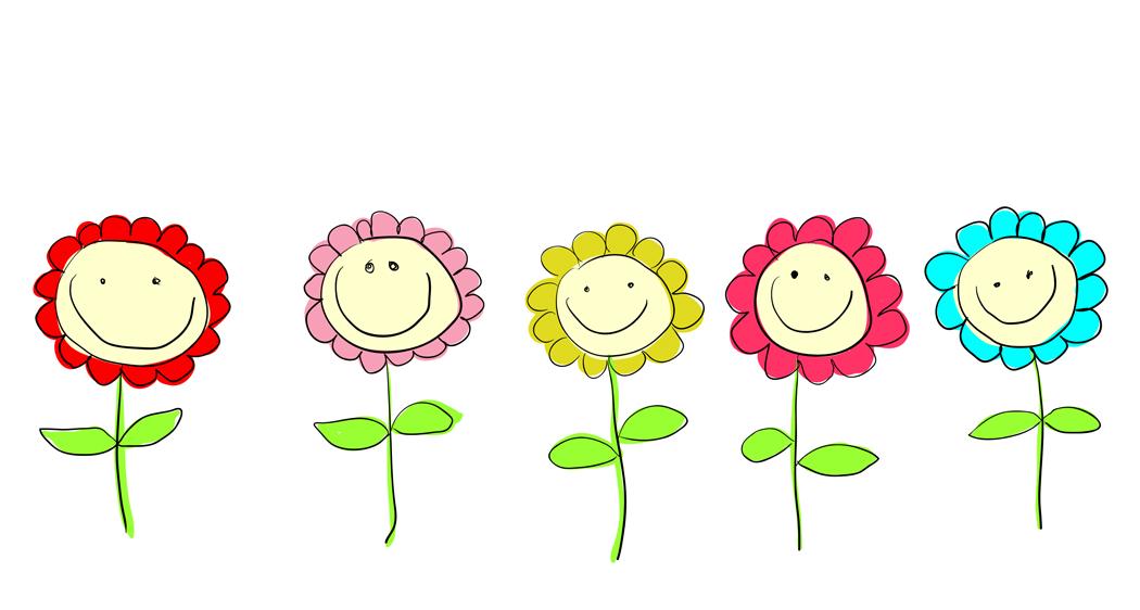 Flower Child Line Drawing : Flower line art cliparts