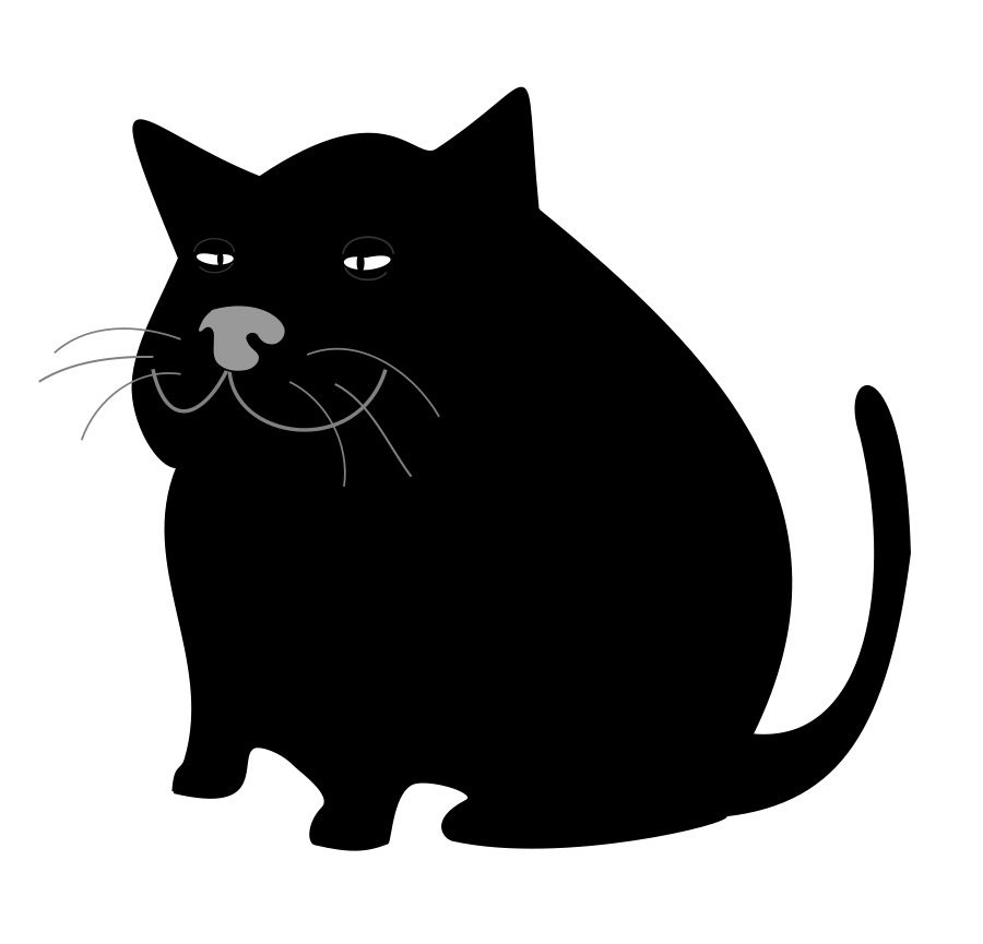 Black Cat / Gato Negro medium 600pixel clipart, vector clip art ...