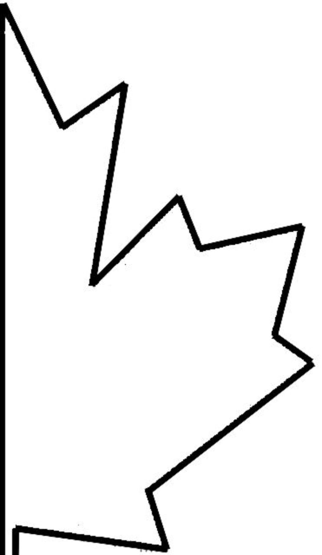 Maple leaves maple leaf coloring page drawing kids for Coloring page of a maple leaf
