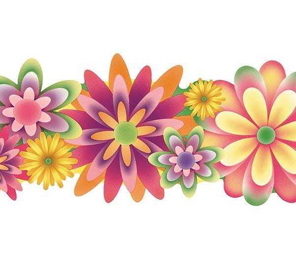 flower wallpaper floral border - photo #8