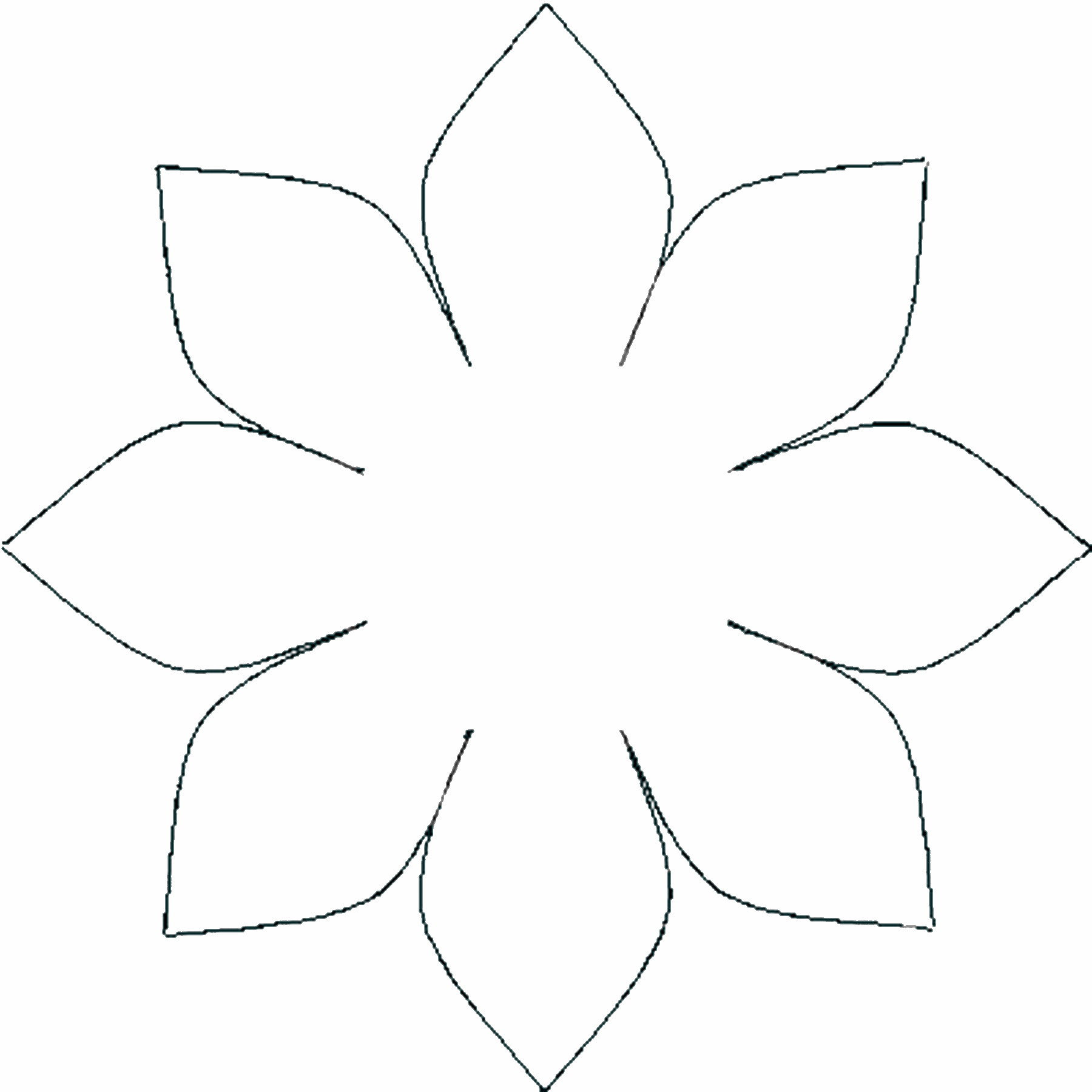 Template Of A Flower Cliparts Co