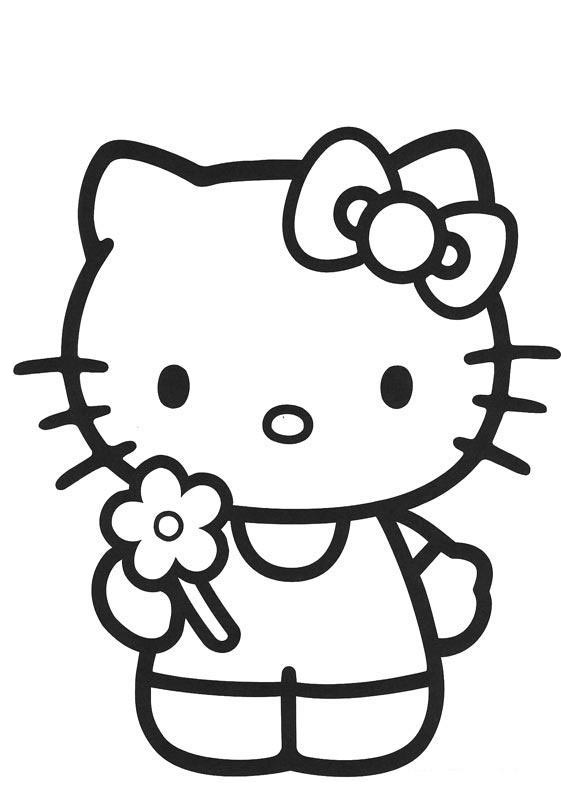 Gambar Hello Kitty Hitam Putih Cliparts Co