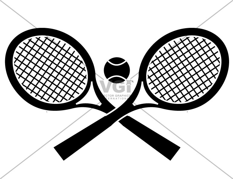 Tennis Ball And Racket Black And White - Cliparts.co