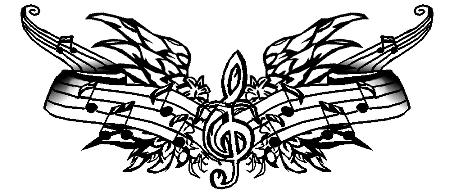 cool music tattoo design - Music Tattoo Designs ...