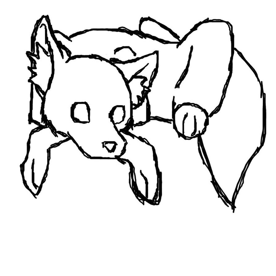 Line Drawing Fox : Fox line art cliparts