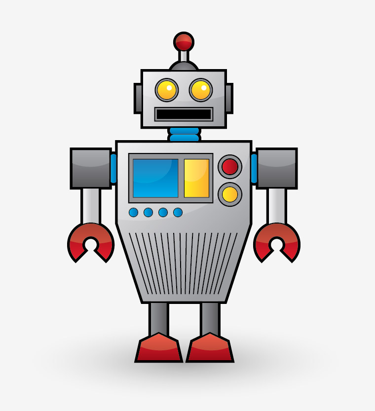 animated robot clipart - photo #43