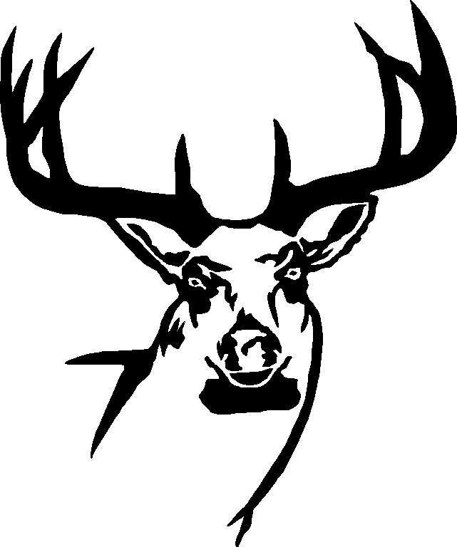 Deer Head Wall Decal 3 - Custom Wall Graphics