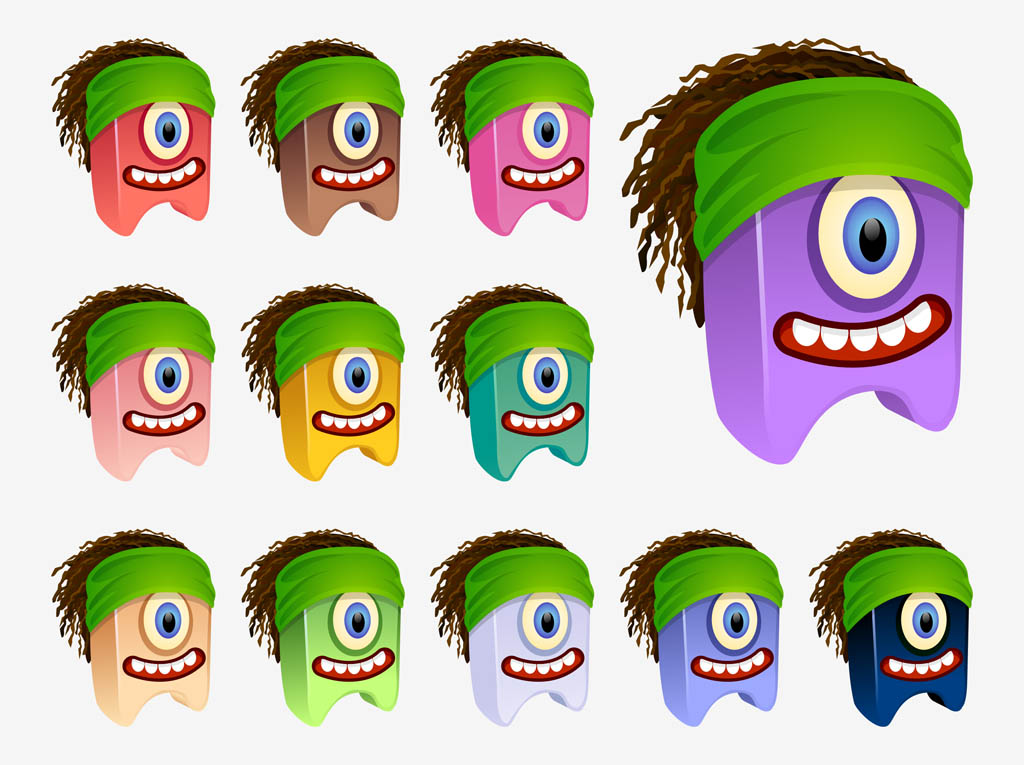 Cartoon Characters With Dreads : Vector dreadlocks characters cliparts