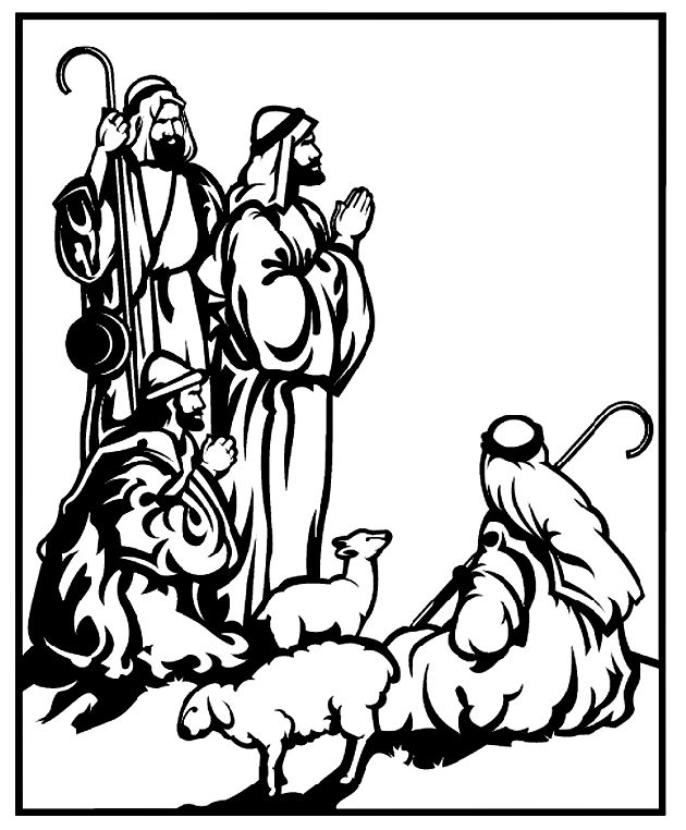 wise men coloring pages - three wise men images