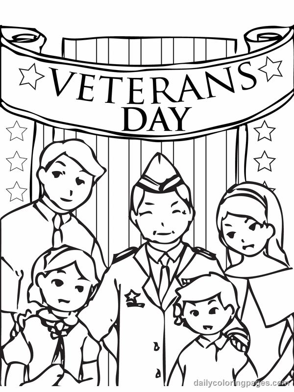 Veterans Day Army Color Pages