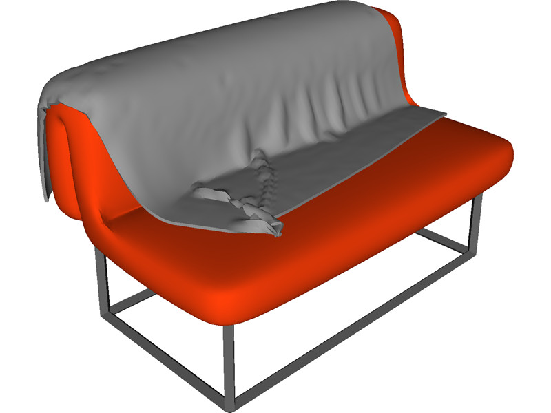 Sofa bed 3d model download 3d cad browser for Sofa bed 3d model