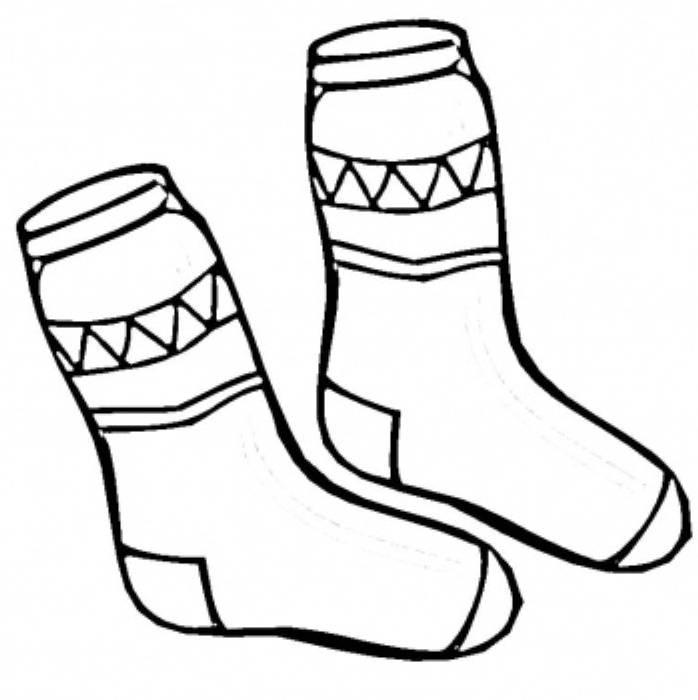 socks coloring page printable sketch template