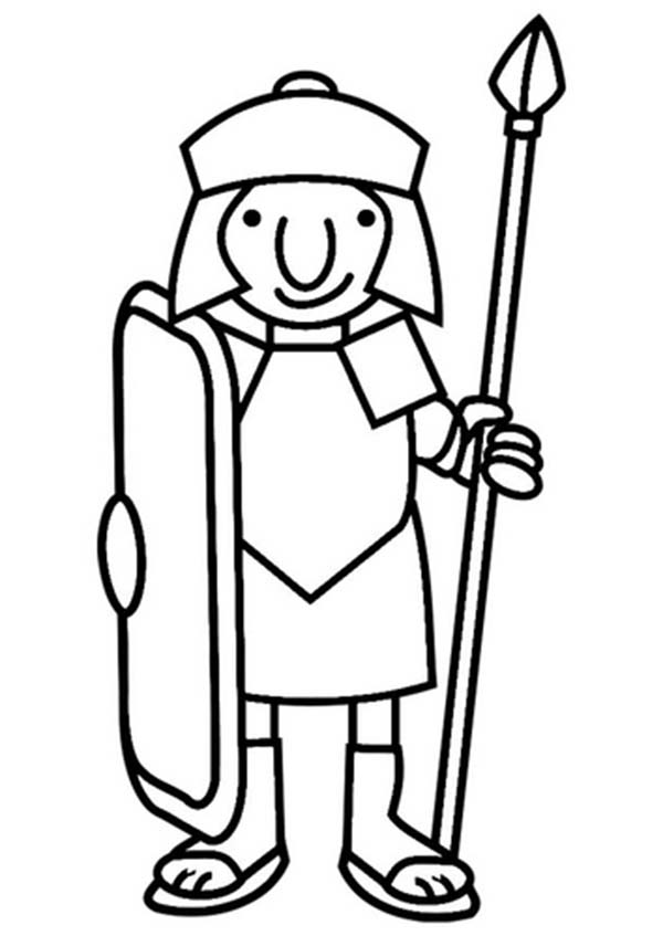 roman soldier coloring pages - photo#30