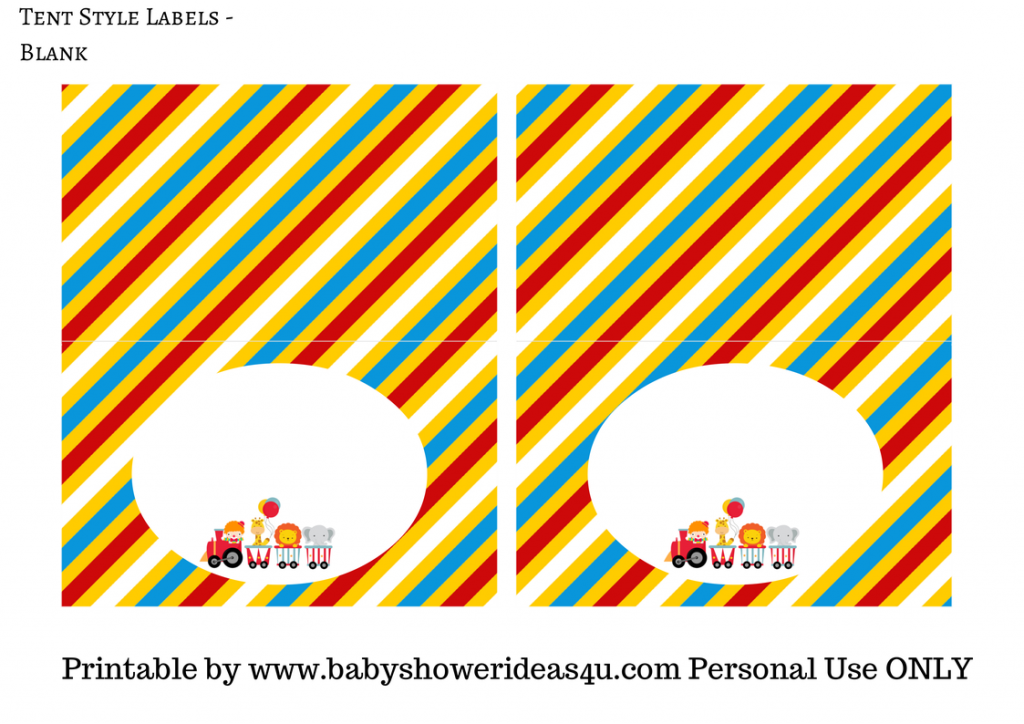 FREE Circus Printables - Baby Shower Ideas - Themes